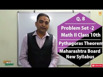 Q.8 Problem Set 2 | Math II Class 10th Maharashtra Board New Syllabus