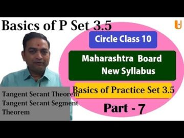 Circle Basics of Practice Set 3.5 Class 10th Maharashtra Board New Syllabus Part 7