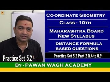 Coordinate Geometry Practice Set 5.2 Class 10 Maharashtra Board New Syllabus Part 2