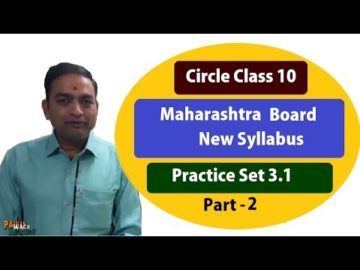 Circle Practice Set 3.1 Class 10th Maharashtra Board New Syllabus Part 2