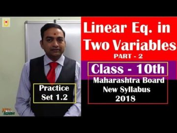 Linear Equations in Two Variable Class 10th Maharashtra Board New Syllabus Part 2
