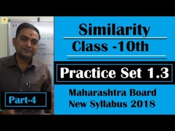 Similarity Class 10th Maharashtra Board New Syllabus Part 4 | Practice Set 1.3